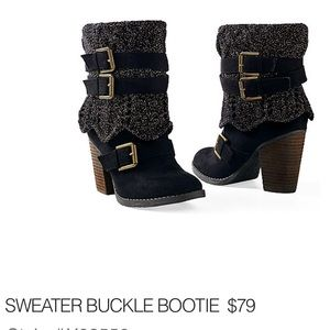 Shoes - Sweater Ankle boots
